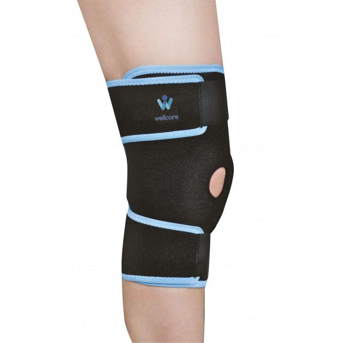 Пов'язку на колінний суглоб з затяжками