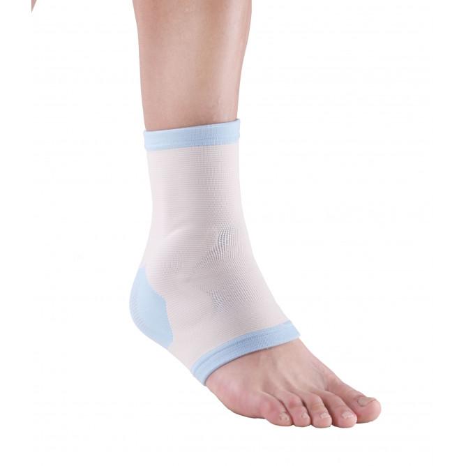Эластичный бандаж для голеностопного сустава с силиконовой подушкой