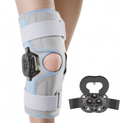 Бандаж з полицентрическим шарніром на коліно