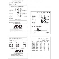 Распечатки результатов измерения профессионального тонометра AND TM-2665P