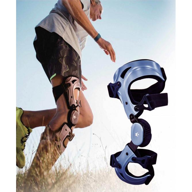 Спортивний ортез на коліно з шарніром для обмеження згинання