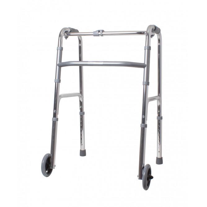 Легкие ходунки с двумя колесами складные